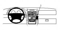 Fixation voiture Proclip  Brodit Mazda MPV Réf 852390