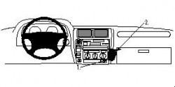 Fixation voiture Proclip  Brodit Toyota LandCruiser 90 Réf 852401
