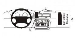 Fixation voiture Proclip  Brodit Volkswagen Passat Réf 852403