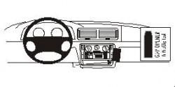 Fixation voiture Proclip  Brodit Volkswagen Passat  PAS pour les modèles avec CD original. Réf 852404