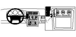 Fixation voiture Proclip  Brodit Volvo C70 Réf 852410
