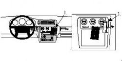 Fixation voiture Proclip  Brodit Volvo C70 Réf 852412