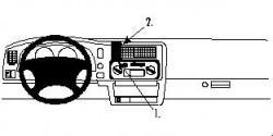 Fixation voiture Proclip  Brodit Mitsubishi L200 Réf 852414