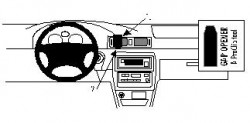 Fixation voiture Proclip  Brodit Toyota Camry  SEULEMENT pour la finition bois Réf 852422