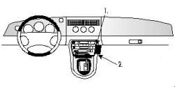 Fixation voiture Proclip  Brodit Jaguar XK8 / XKR Réf 852430