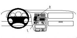 Fixation voiture Proclip  Brodit Mazda 323 F (BA) Réf 852433