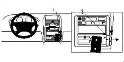 Fixation voiture Proclip  Brodit Toyota Picnic Réf 852440
