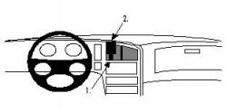 Fixation voiture Proclip  Brodit Saab 9000  SEULEMENT pour la finition bois Réf 852441