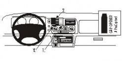 Fixation voiture Proclip  Brodit Mitsubishi Montero Sport Réf 852447