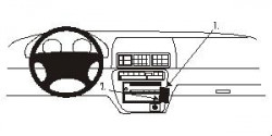 Fixation voiture Proclip  Brodit Honda Prelude Réf 852454
