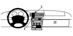 Fixation voiture Proclip  Brodit Opel Sintra Réf 852465