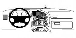 Fixation voiture Proclip  Brodit Peugeot 306 Réf 852467