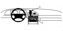 Fixation voiture Proclip  Brodit Lada Samara Réf 852469