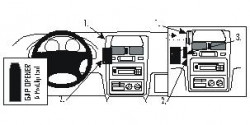 Fixation voiture Proclip  Brodit Toyota Picnic Réf 852471