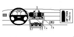 Fixation voiture Proclip  Brodit Audi A6 Réf 852472