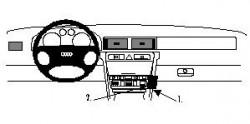 Fixation voiture Proclip  Brodit Audi A6 Réf 852473