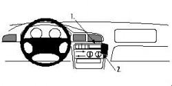 Fixation voiture Proclip  Brodit Peugeot 406 Réf 852484