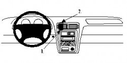 Fixation voiture Proclip  Brodit Mazda 626 Réf 852489