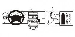 Fixation voiture Proclip  Brodit Toyota Corolla Réf 852493