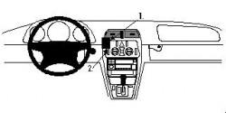 Fixation voiture Proclip  Brodit Mercedes Benz CLK-Class  PAS pour les modèles avec AC. Réf 852497