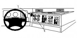 Fixation voiture Proclip  Brodit Mercedes Benz Actros Réf 852500