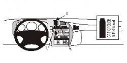 Fixation voiture Proclip  Brodit Saab 9-5  PAS pour le grain de panneau de bois / kevlar look. Réf 852502