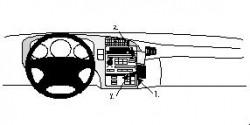 Fixation voiture Proclip  Brodit Saab 9-5  Va bloquer le porte-gobelet. Réf 852503