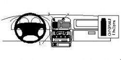 Fixation voiture Proclip  Brodit Subaru Forester Réf 852505