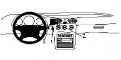 Fixation voiture Proclip  Brodit Mercedes Benz A-Class Réf 852510
