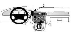 Fixation voiture Proclip  Brodit Jaguar XJ8 Réf 852515