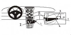 Fixation voiture Proclip  Brodit Alfa Romeo 145 Réf 852518
