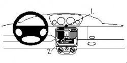 Fixation voiture Proclip  Brodit Lancia Y Réf 852520