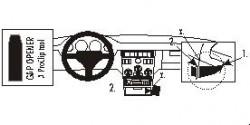 Fixation voiture Proclip  Brodit Fiat Coupe Réf 852522
