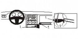 Fixation voiture Proclip  Brodit Seat Cordoba  Uniquement pour le modèle de Sedan. Réf 852530