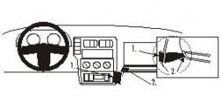 Fixation voiture Proclip  Brodit Volkswagen Caddy Van/Combi  Uniquement pour le modèle de Sedan. Réf 852531