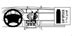 Fixation voiture Proclip  Brodit Renault Kangoo Réf 852532