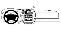 Fixation voiture Proclip  Brodit Chevrolet Blazer S10 Réf 852534