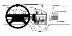 Fixation voiture Proclip  Brodit Pontiac Bonneville Réf 852560