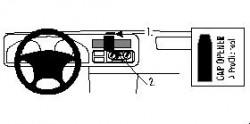 Fixation voiture Proclip  Brodit Nissan Frontier Réf 852569