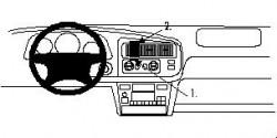 Fixation voiture Proclip  Brodit Toyota Sienna Réf 852576