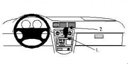 Fixation voiture Proclip  Brodit Chevrolet Prizm Réf 852578