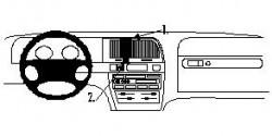 Fixation voiture Proclip  Brodit Citroen Xantia II Réf 852590
