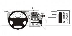 Fixation voiture Proclip  Brodit Saab 9-5 Réf 852593
