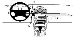 Fixation voiture Proclip  Brodit Chrysler 300M Réf 852615
