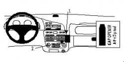 Fixation voiture Proclip  Brodit Fiat Palio Réf 852633