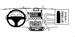 Fixation voiture Proclip  Brodit Fiat Seicento Réf 852634