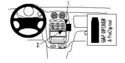 Fixation voiture Proclip  Brodit Chevrolet Matiz Réf 852637