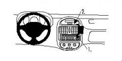 Fixation voiture Proclip  Brodit Renault Clio I Réf 852640