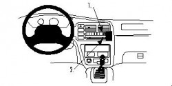 Fixation voiture Proclip  Brodit Suzuki Grand Vitara Réf 852641