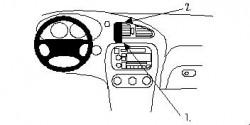 Fixation voiture Proclip  Brodit Chevrolet Alero Réf 852655